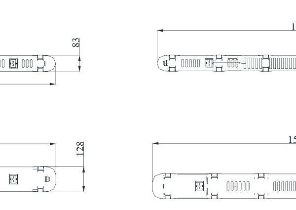 ip65 светодиодный светильник opple waterproof performer чертеж